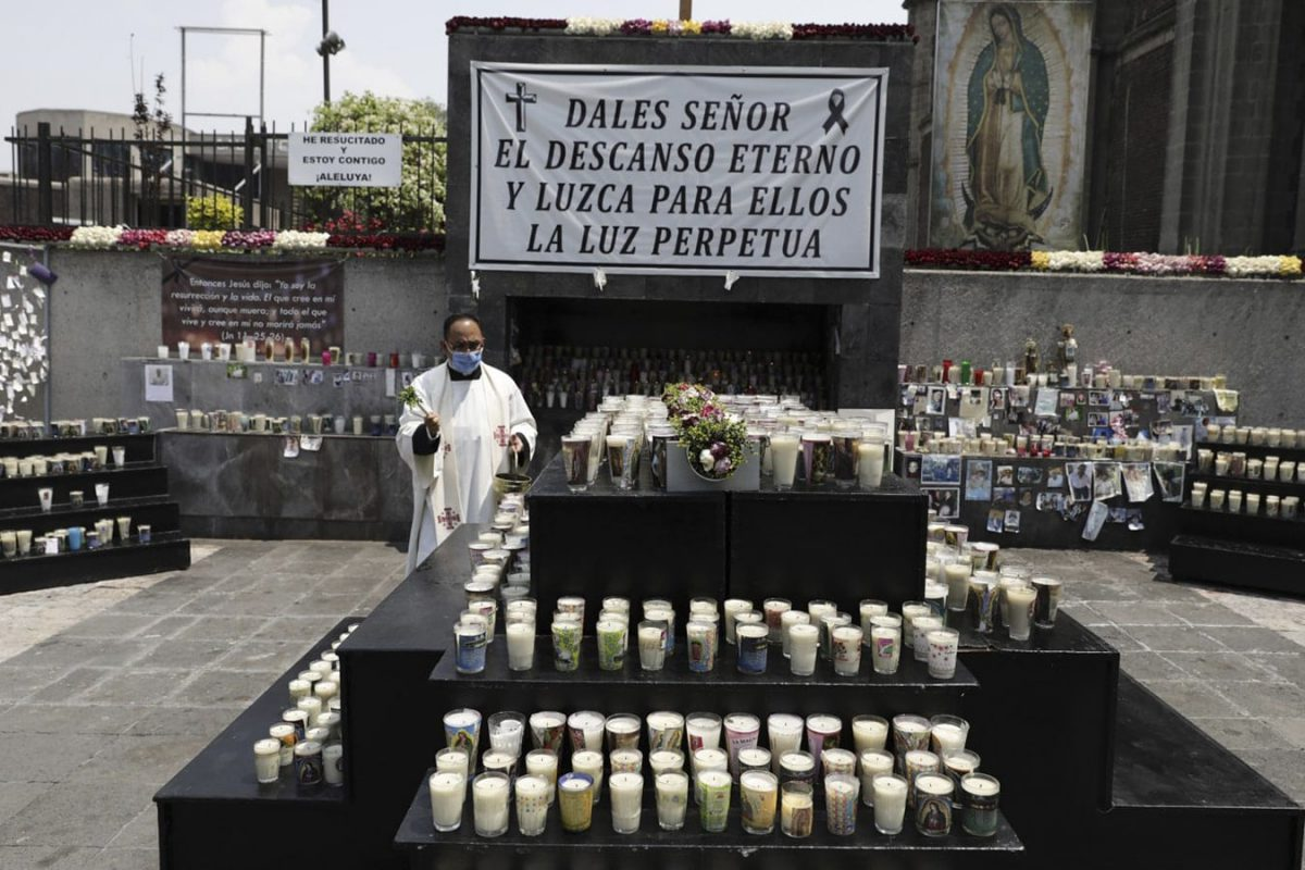 Memorial en la Basílica de Guadalupe por las víctimas de Covid-19