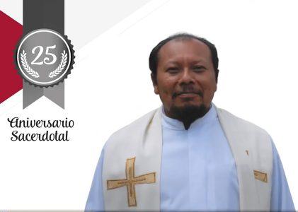 El P. Tiburcio Manuel Lara Farfán, MG, celebra XXV aniversario sacerdotal